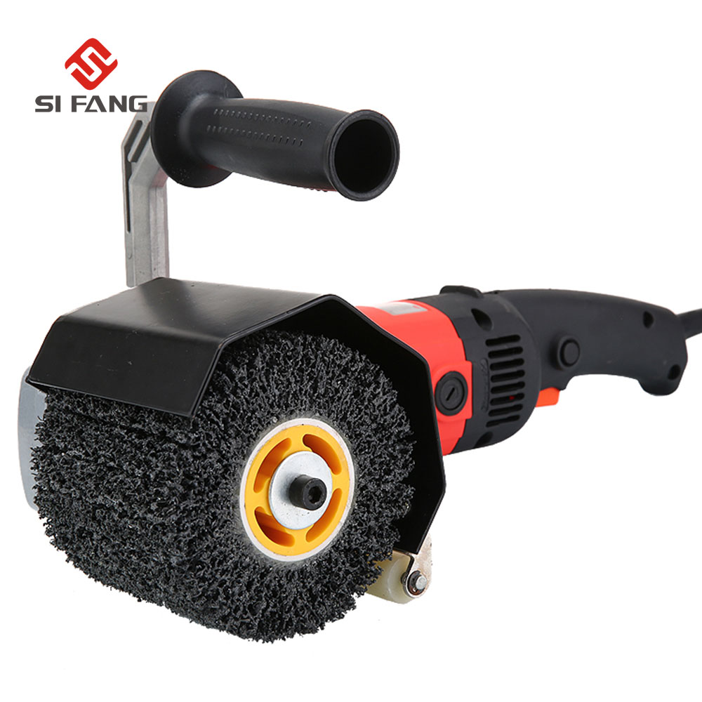 black king type wire drawing wheel brush drum burnishing polishing wheel for wood iron sheet surface work abrasive wheel