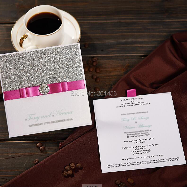 Elegant pocket wedding invitations card with rose ribbon nk742e wedding invitations nk742f stopboris Image collections