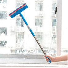 Double-sided wiping glass cleaning brush Wipe the window Clean handle to stretch