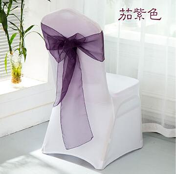Plum Organza Chair Sash Deep Purple 100 Pcs Free Shipping In Sashes From Home Garden On Aliexpress Alibaba Group