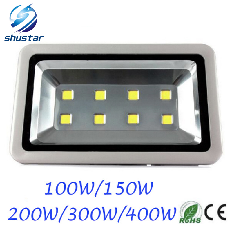 DHL Outdoor lighting 100W 150W 200W 300W 400W Epistar Led Floodlight AC85-265V Flood light Waterproof Outside Led Reflector 30% off 2pcs ultrathin led flood light 50w black ac85 265v waterproof ip66 floodlight spotlight outdoor lighting free shipping