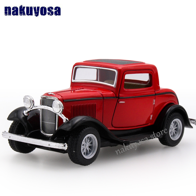 high simulation Old models 1932 Ford classic car alloy pull back ...