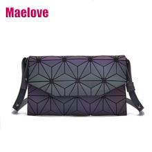 Maelove New Luminous Bag Women's Geometry Clutch Handbag Crossbody shoulder bag Luxury handbag for women 2019 Free Shipping