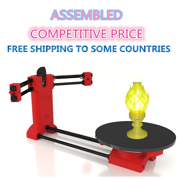 Assembled Ciclop DIY 3d scanner , Reprap Open source 3d scanner for 3d printer free shiping ciclop diy 3d three dimensional scanner adapter plate precision machine parts for 3d printer parts