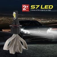 2PCS S7 Car LED Headlight Braid Radiating 6400LM/Pair Lamp Auto Bulb Light H1 H3 H27 H7 H11 HB3 HB5 9006/HB4 H4 H13 HB1