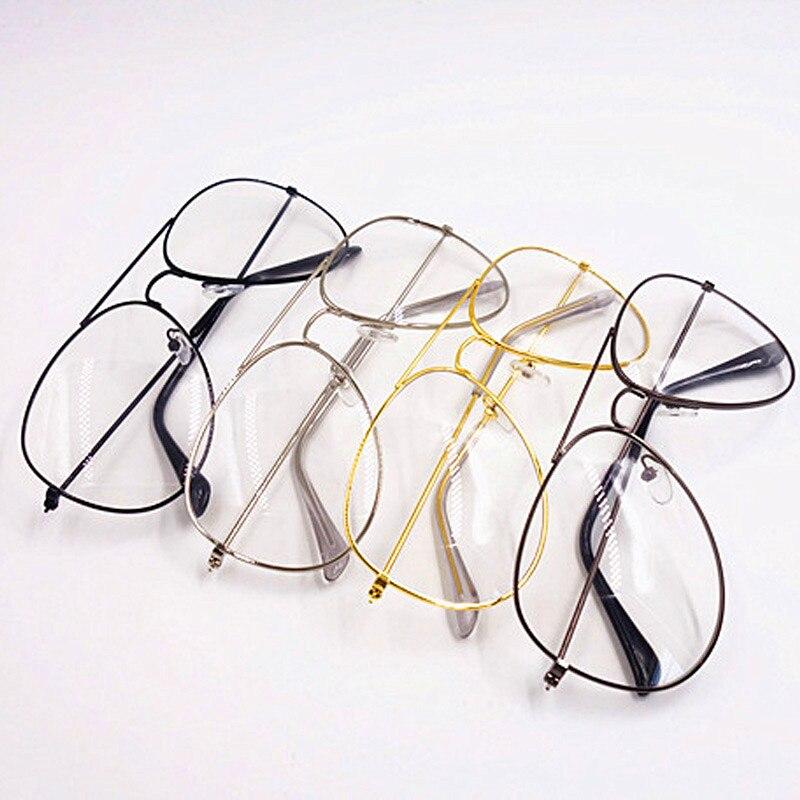 94ade283dbf6 Gold Clear Glasses Myopia Clear Frame Glasses Women Eyewear Men Spectacle  Frame Clear Lens Optical Aviator Glass Lunette Female-in Eyewear Frames  from ...