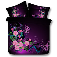 3d Silver Butterfly Series Kids/Adult Duvet Cover High Quality Bedding Sets 3/4PC Twin/King/Queen/Super King Size Hot