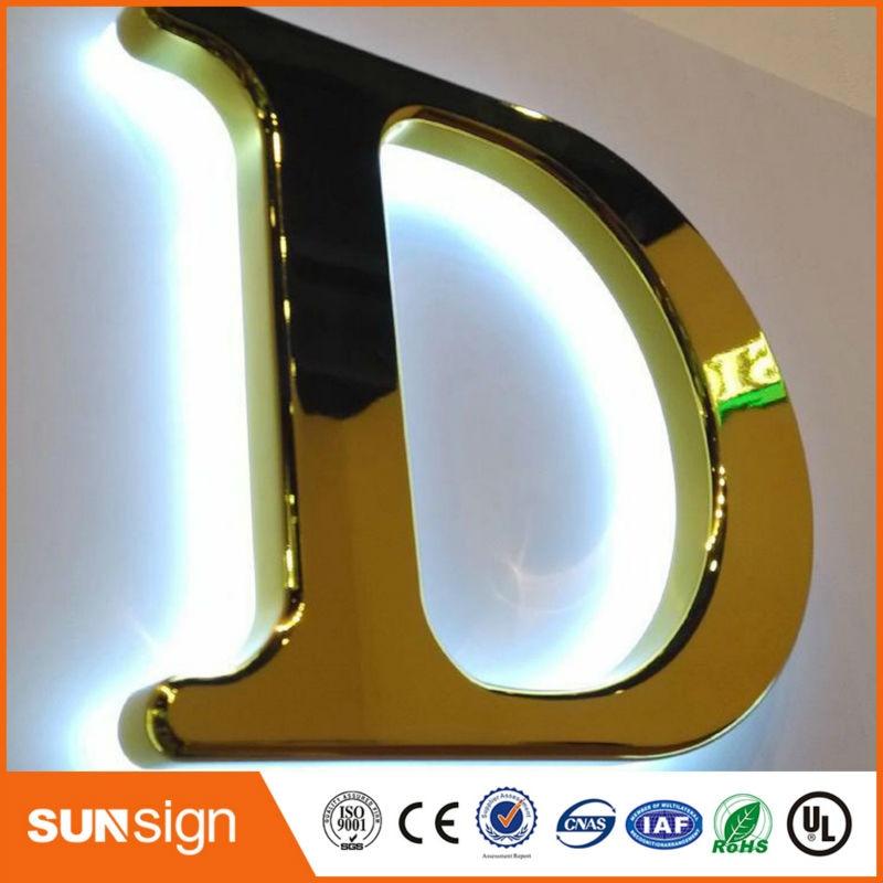 Backlit LED Letters Sign For Front Doors