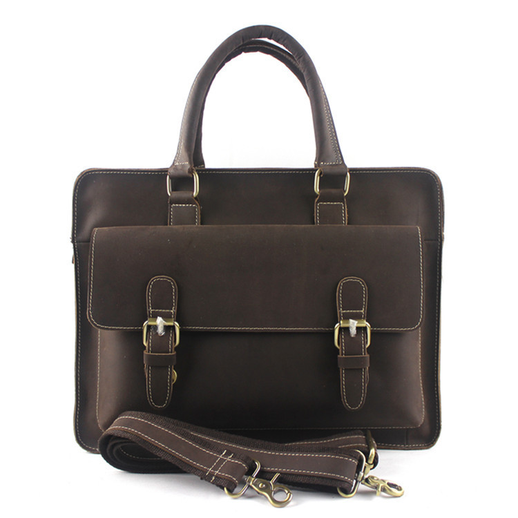 Designer Handbags High Quality Men Handbags Genuine Leather Trunk Vintage Messenger Bags Travel Business Laptop Retro Briefcase