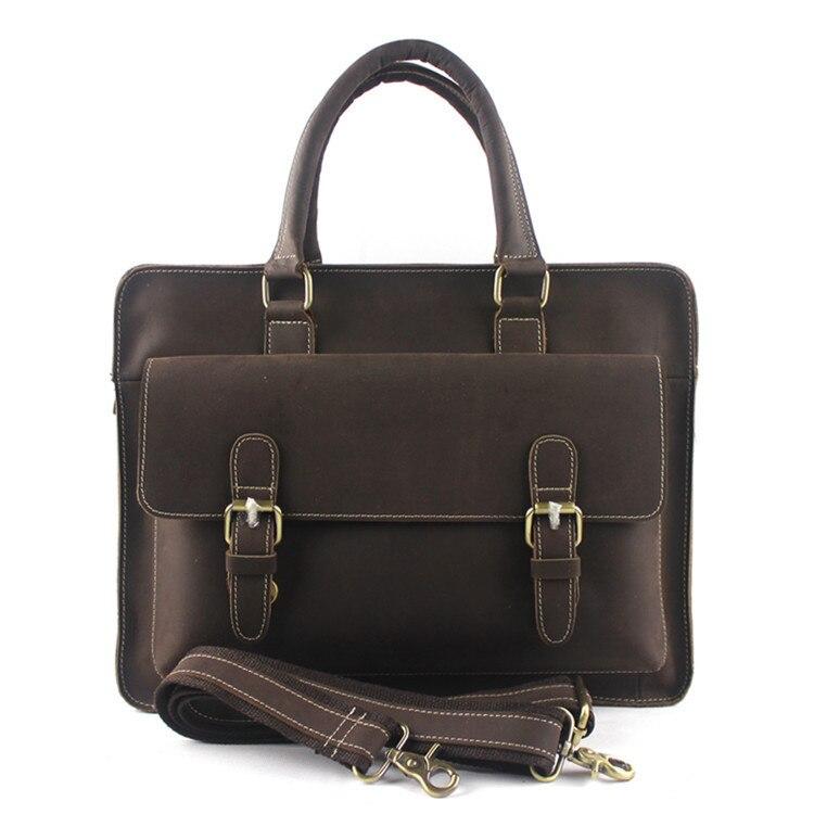 Designer Handbags High Quality Men Handbags Genuine Leather Trunk Vintage Messenger Bags Travel Business font b