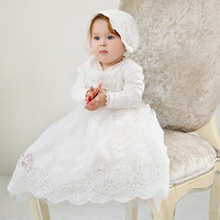 Extra long Floor Length Birthday Baby Girl Dresses Party Vestido Formal 2019 Toddler Baby Baptism Gown Baby Clothes RBF194005