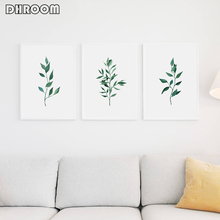 Watercolor Fern Wall Art Canvas Posters Prints Italian Ruscus Paintings Green Leaf Wall Picture for Living Room Botanical Decor
