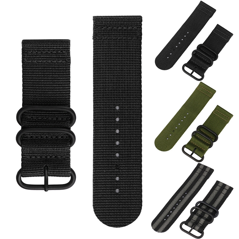 Excellent Quality Nylon Watch Band 26mm Luxury Nylon Strap 3 Ring Watch Replacement Band ForFor Garmin