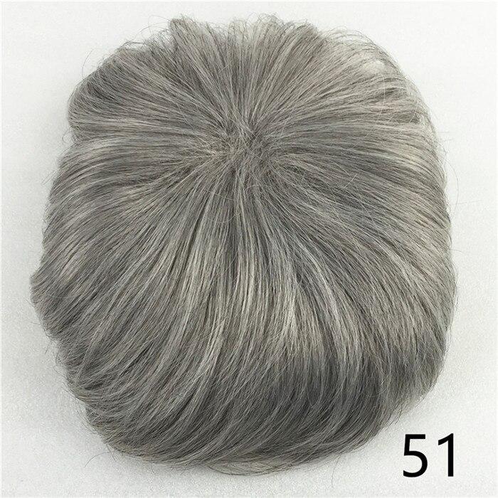 Сильная красота парик синтетические волосы парик выпадение волос топ кусок парики 36 цветов на выбор - Цвет: T1B/светло-серый