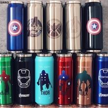 Креативные термосы из нержавеющей стали с супергероем мстителем, Лига справедливости, портативные, унисекс, студенческие, персональные, трендовые, соломенные чашки