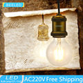 E27 G80 3W LED Filament bulb home decor LED lamp free shipping  2200k yellow LED Edison Bulb LED Light Clear Glass AC 220V 110V