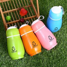 IVYSHION Portable Stainless Steel Vacuum Flask Insulated Thermo Cup Bottle Creative Penguin Thermos Cups Belly Cup Student Gifts(China)