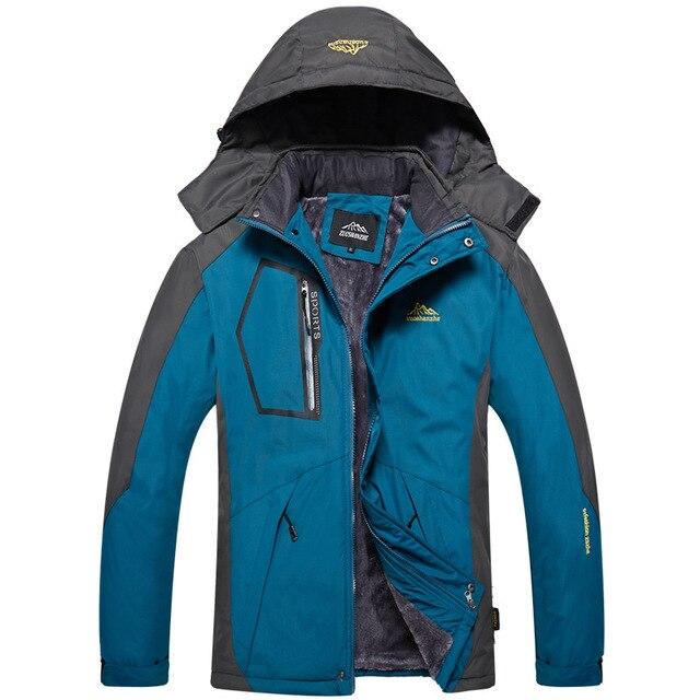 CCIVICFREE Winter Waterproof Fleece Jacket Men's Outdoor Sports Warm Hiking Camping Trekking Skiing Fishing Jackets Rain Coat