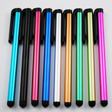 10 pçs/lote Capacitive Touch Screen Stylus Pen para IPhone IPad IPod Touch Terno para Outro Telefone Inteligente Tablet Stylus de Metal Lápis(China)
