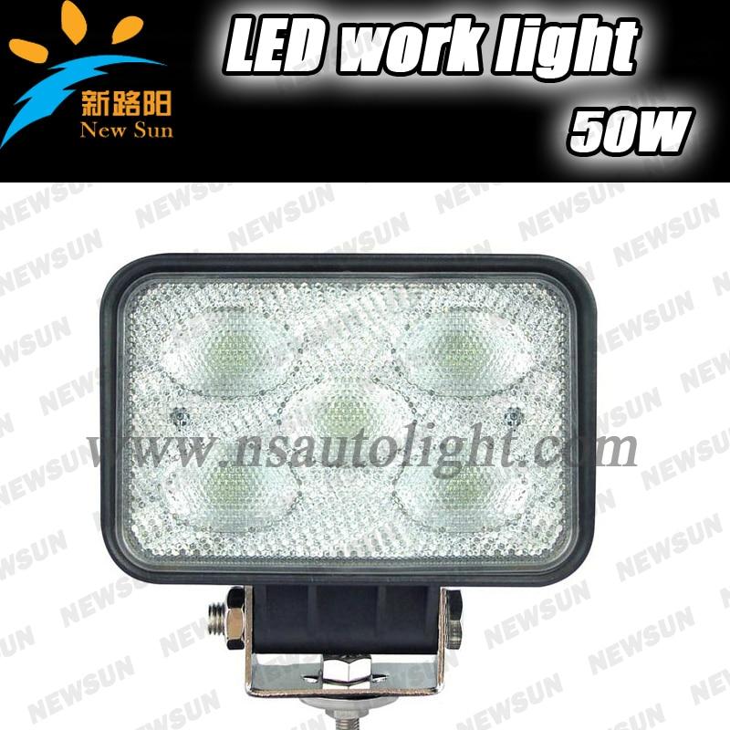 ФОТО Heavy duty led work lights 50W high power Auto SUV ATV excavator 10v-30v auto led off road light work light
