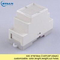 Din rail control box PLC industrial box din rail plastic box diy  junction box electronics CASE 87*60*36mm|Wire Junction Boxes| |  -