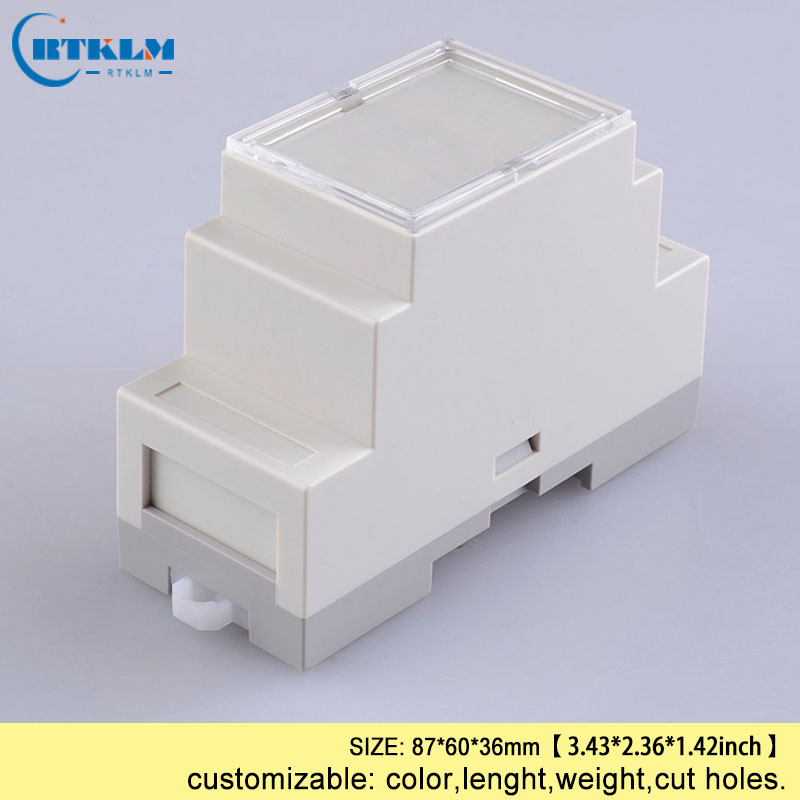 Din rail control box PLC industrie box din-schiene kunststoff box diy junction box elektronik FALL 87*60 * 36mm