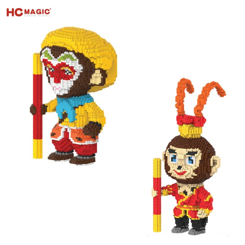 HC Mini Blocks Big size Chinese Cartoon Wukong Building Toy Monkey Model Juguetes Educational Children Toys