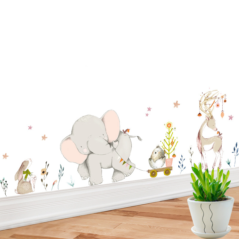 colorful animal Elephant wall stickers living room home decorations pvc decal mural art diy office kids room wall art MA29