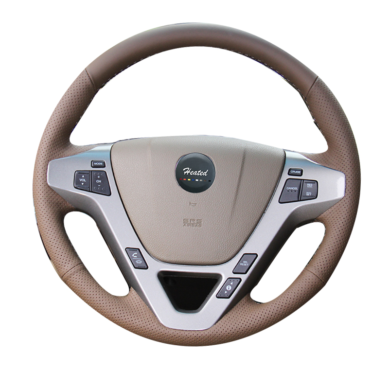 Hand Sewing Leather Car Steering Wheel Cover For Honda