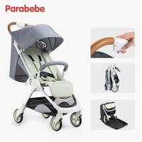 Parabebe 5.5 KG stroller light pram for travel Can sit/lie lightweight foldable umbrella car suit for 0 3Y with Hide backpack