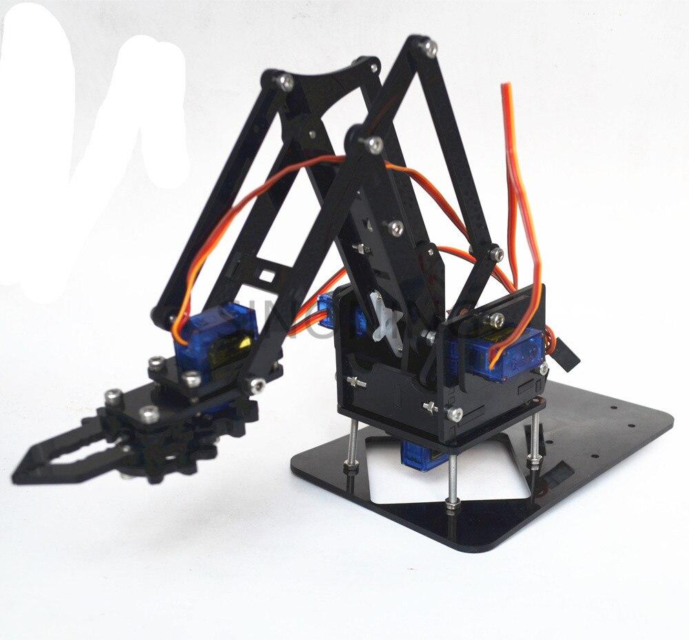 Acrylic Mechanics Handle Robot Robotic 4 Dof Arm For Arduino Created Learning Kit Sg90 #6