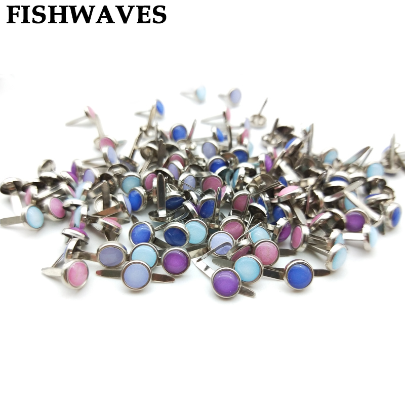 FISHWAVES 50pcs Epoxy Brads Diy Colorful Photo Album Brads For Diy Craft Decoration Embellishment Scrapbooking Brads Hot Sell image