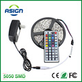 LED Strip Light 5050 5M 300Led SMD RGB 60LED/M Lamps DC12V Flexible Light + 44key IR Remoter + 3A Power Lighting 5M/Roll