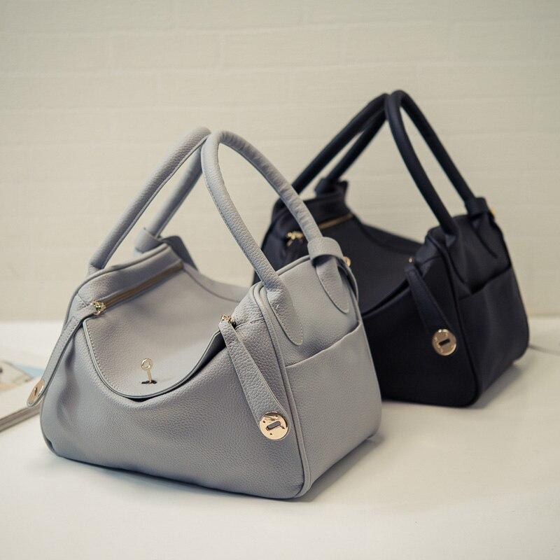 hobo bag women leather handbag vintage crossbody leisure bag buckle  Shoulder Bags female luxury top handle bolsas-in Shoulder Bags from Luggage    Bags on ... 67ac24dc93