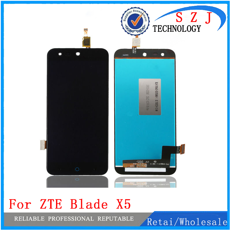 New 5'' inch Full LCD DIsplay + Touch Screen Digitizer Assembly Replacement For ZTE Blade X5 / Blade D3 T630 Free shipping bovis 5102 02 casual man s pu credit name card wallet slots coffee