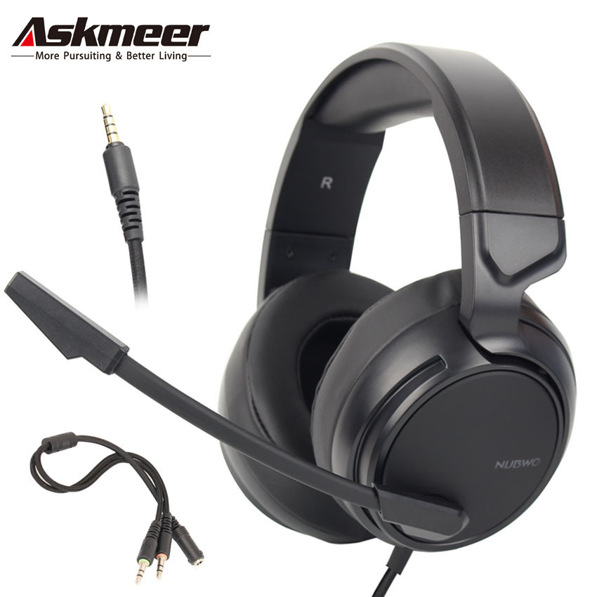 ASKMEER Best PS4 Gaming Headset casque PC Stereo Headphones with Microphone for Xbox One/Nintendo Switch(Only Audio)/Laptop