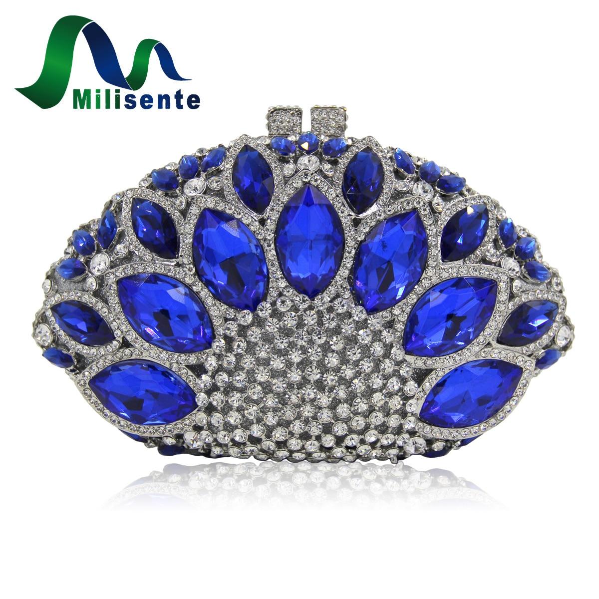 Women Luxury Crystal Bag Wedding Clutch Purse Party Handbags Wholesale Silver luxury crystal clutch handbag women evening bag wedding party purses banquet