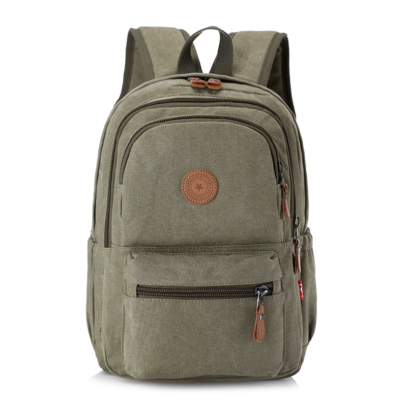 Unisex Environmental Canvas Backpack Large Capacity Computer Backpack Male Casual Travel Bag Fashion Female Shoulder Bag