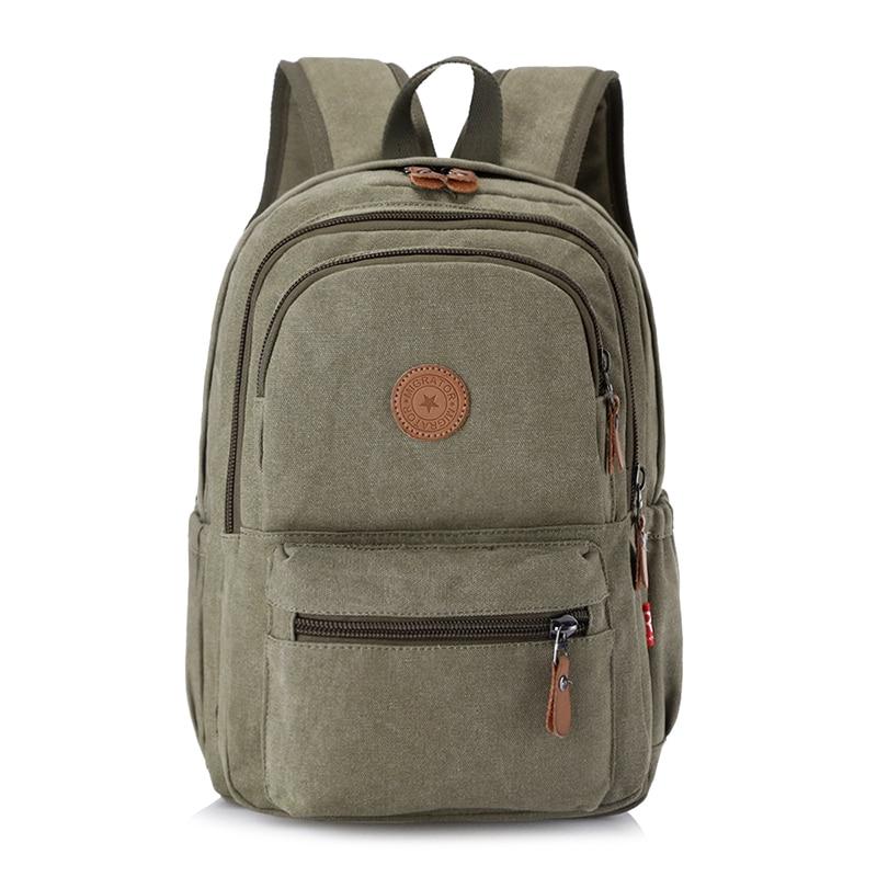 Unisex Environmental Canvas Backpack Large Capacity Computer Backpack Male Casual Travel Bag Fashion Female Shoulder Bag