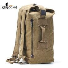 Men Military Backpack Tactical Bag Travel Climbing Handbag Army Bags Canvas Foldable Bucket Cylinder Shoulder Pack Sports XA129D