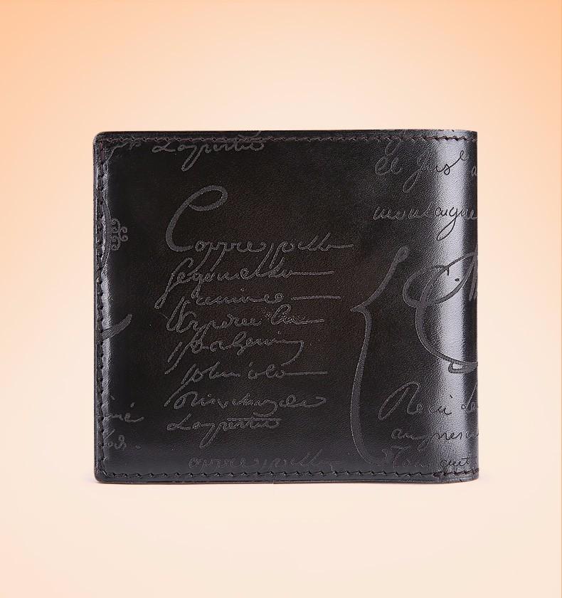 Iron gray wallet for men