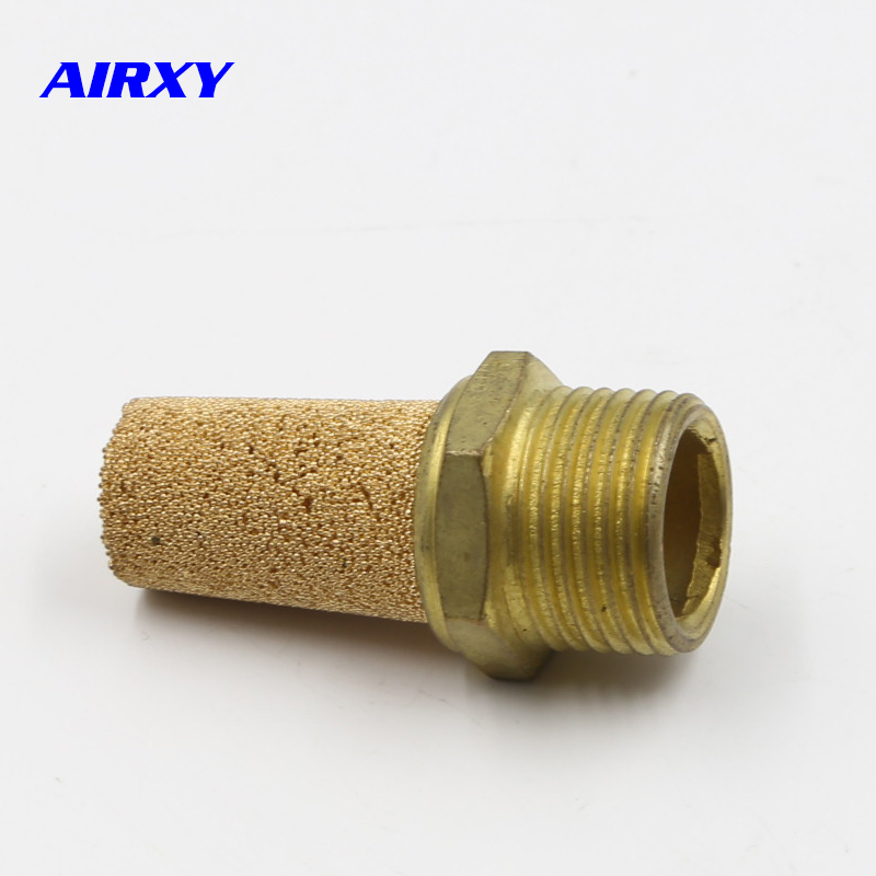 10 Pneumatic Brass Exhaust Muffler BSL M5 1 8 quot 1 4 quot 3 8 quot 1 2 quot 3 4 quot 1 quot Pneumatic Silencers Fitting Noise Filter Reducer Connector in Pneumatic Parts from Home Improvement