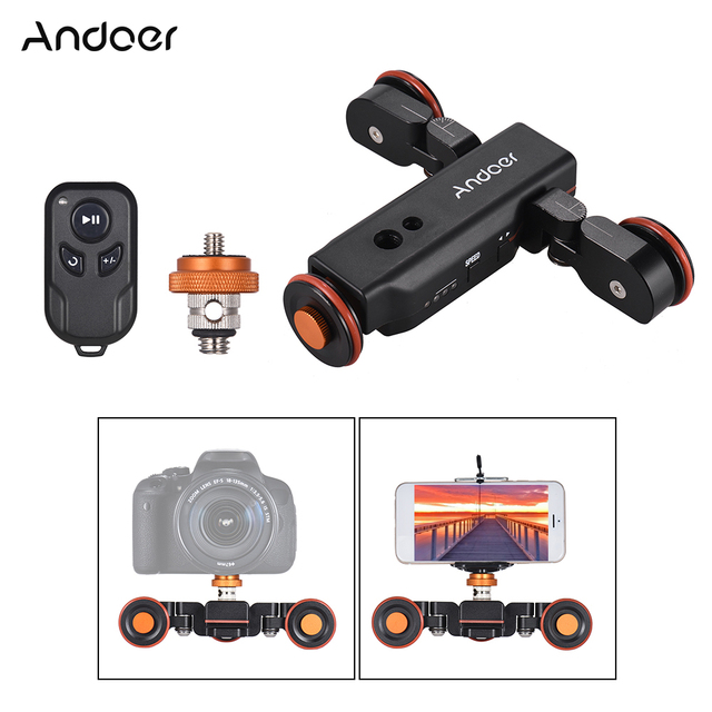 Andoer L4 PRO Mini Đường Trượt Không Dây Điều Khiển từ xa Cơ Giới Camera Trượt Video cho Canon Nikon Sony DSLR Camera Điện Thoại Thông Minh