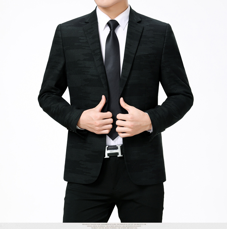 WAEOLSA Men Fashion Blazers Dark Green Red Jackets Suits Man Slim Fit Blazer Male Elegant Outfits Office Garment Print Blaser For Man (9)