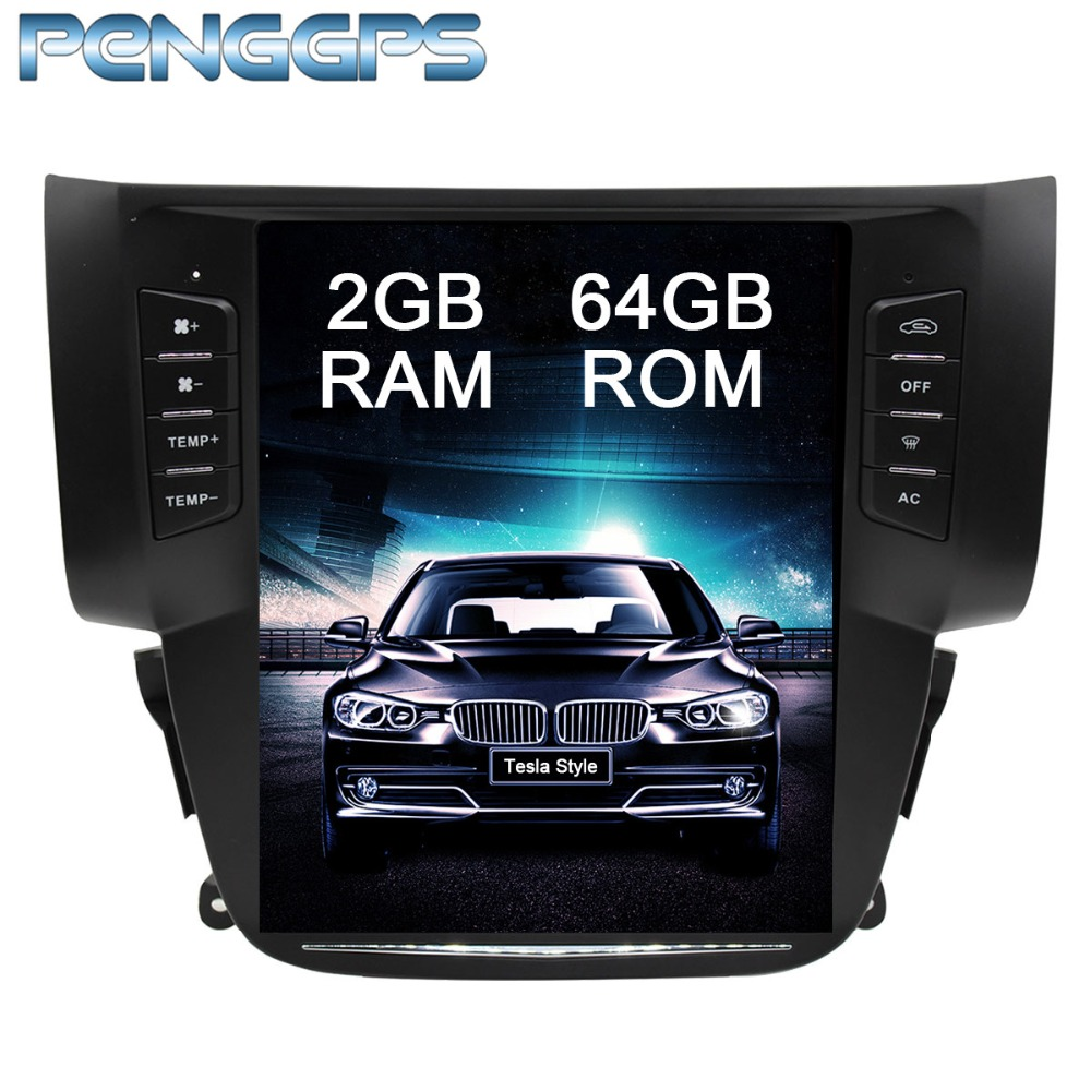 Tesla Style 10 4 Android 7 1 Car Radio NO DVD Player GPS Navigation for Nissan