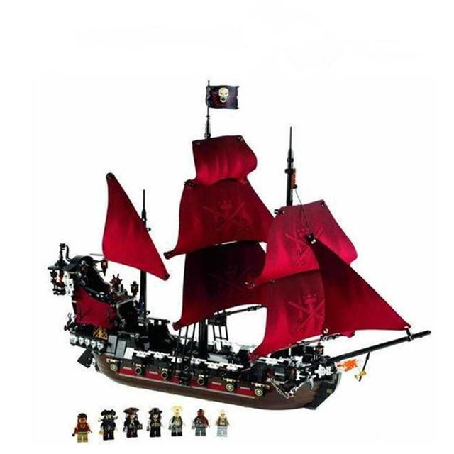 LEPIN 16009 Piratas serie La Venganza de la Reina Anne Bloques de Construcción modelo de Barco Pirata de Dibujos Animados Juguetes Para Los Niños