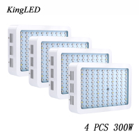 3PCS EasyHydroGrow 300W Hydroponics System Flower Plants LED Grow Light Panel Grow Flower