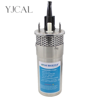 Mini Stainless Steel Solar Submersible Water Pump DC 12V 24V Large Flow Lift 70M Deep Well Submersible Outdoor Garden Household solar water pump dc 12v 24v high pressure solar power pump submersible stainless steel well pump electric diaphragm garden