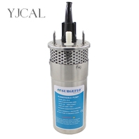 Mini Stainless Steel Solar Submersible Water Pump DC 12V 24V Large Flow Lift 70M Deep Well Submersible Outdoor Garden Household