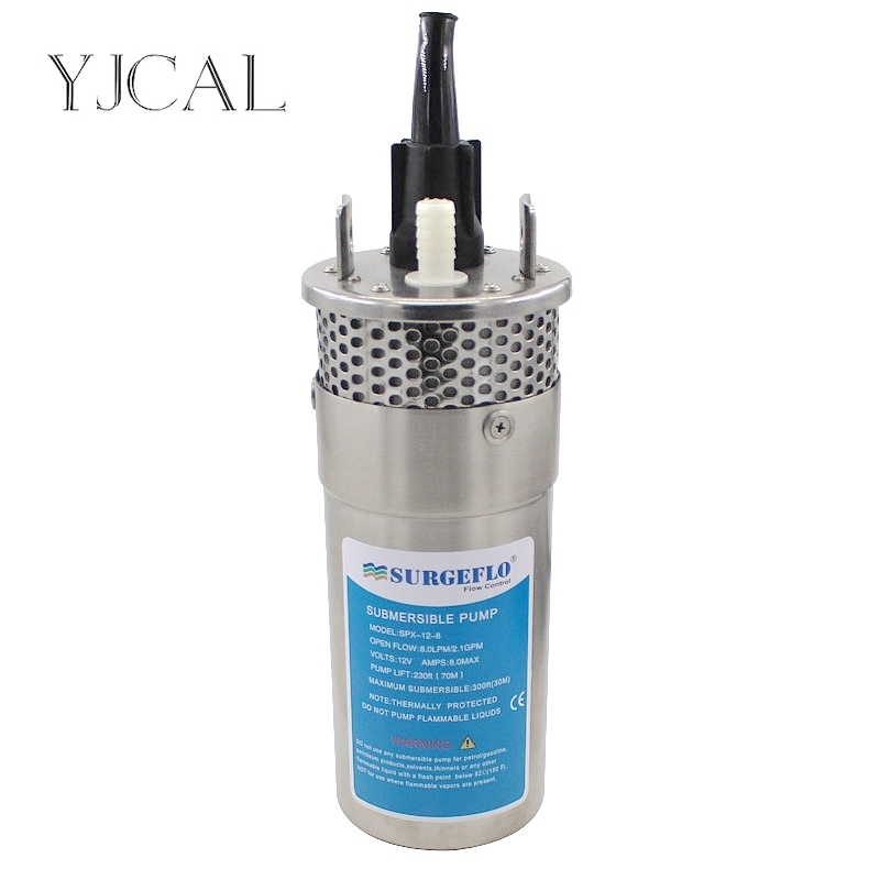 Mini Stainless Steel Solar <font><b>Submersible</b></font> <font><b>Water</b></font> <font><b>Pump</b></font> DC <font><b>12V</b></font> 24V Large Flow Lift 70M Deep Well <font><b>Submersible</b></font> Outdoor Garden Household image